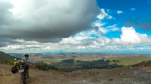 Lesotho Right at the top of Mathabeng Pass looking towards Sehlabathebe