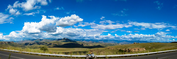 Lesotho Surrender Hill between Clarens and Fouriesburg has some of the most amazing views into Lesotho