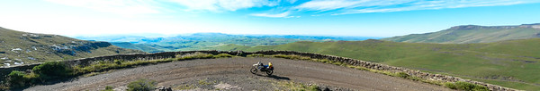 Lesotho Overlooking the Eastern Cape from the viewpoint close to the top of Naude