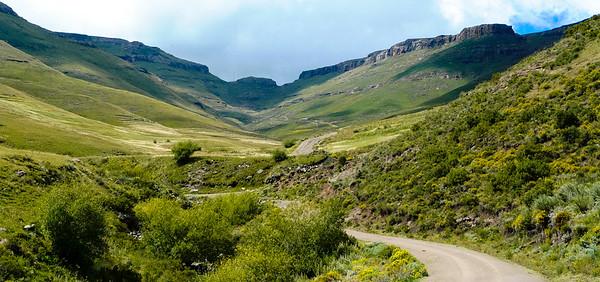 Lesotho Leading up Mathabeng Pass