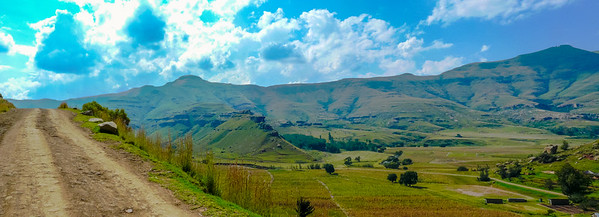Lesotho One of my favorite photos of the Monontsha Road,. You can see the Caledon river down there, so the mountains in the background are in South Africa
